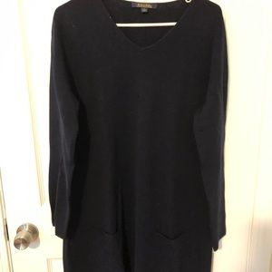 Navy Brooks Brothers tunic with pockets